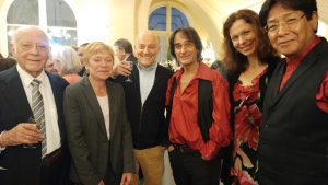 De g. à dr. : Raul Maldonado et son épouse, Arnaud Dumond, Gérard Verba, Zdenka Ostadalova & José Mendoza
